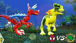 Örümcek Adam Dinozoru ve Hulk Dinozoru Kapışıyor! Lego Jurassic World