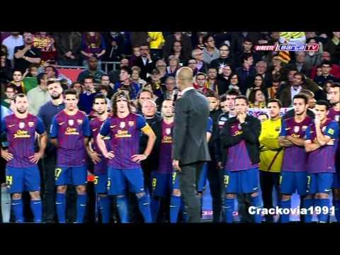 Celebración Despedida Como Entrenador De Pep Guardiola En El Barsa 05-05-2012