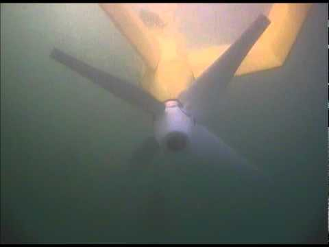 The E1 (Evopod) Tidal Energy Project: Underwater footage