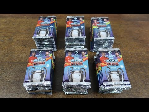 100 PACK OPENING! Match Attax 2017/18 Champions League