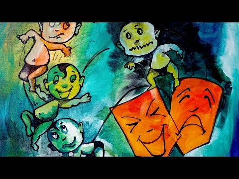composition painting 5| Emotions and expressions | Modern Art | Concept Art | Abstract painting