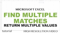 Find Multiple Match Results in Excel - Return What VLOOKUP Won't