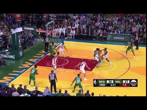 Kyrie Irving magic spin moves - Milwaukee Bucks vs. Boston Celtics - NBA - 26/10/2017