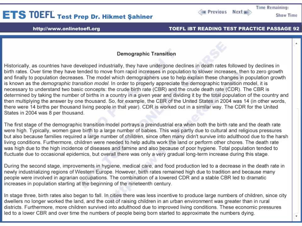 toefl reading Test of english as a foreign language® (toefl / ˈ t oʊ f əl / toh-fəl) is a standardized test to measure the english language ability of non-native speakers wishing to enroll in english-speaking universities the test is accepted by many english-speaking academic and professional institutions toefl is one of the two major english-language tests in the world, the other being the ielts.