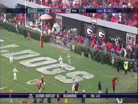 Roddy Jones 2nd Touchdown With Georgia Radio Call