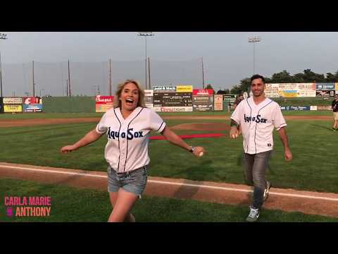 Carla Marie & Anthony Throw Out the First Pitch at Everett AquaSox Game!