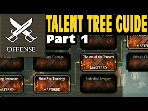 MKX Mobile. Talent Tree Guide And Strategy (Maxed Out Talent Points). Best Choices For OFFENSE