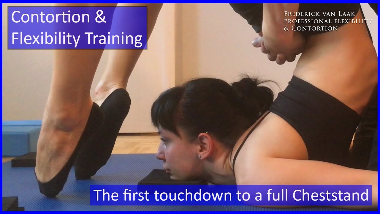 70 Flexyart Contortion Training: Vikas 1. Cheststand  - Also for Yoga, Pole, Ballet, Dance People