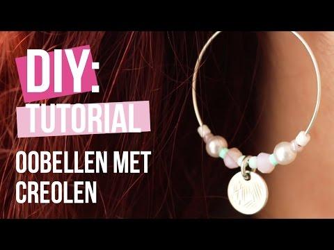 Sieraden maken: Trendy oorbellen met onderdelen van DQ metaal ♡ DIY