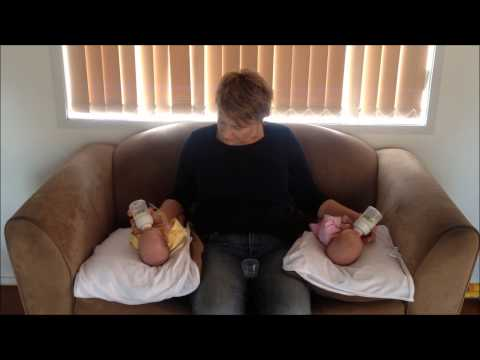 Bottle Feeding Twins simultaneously