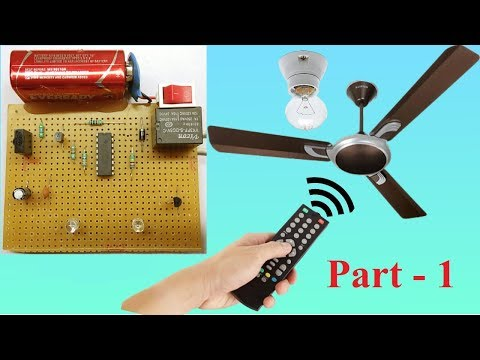 Control FAN and LIGHT using TV remote ( part-1 )