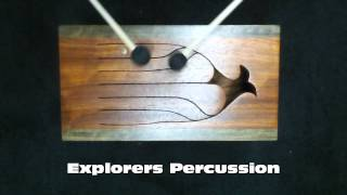 6 Note Tongue Slit Drum African Padouk and Sheova Wood