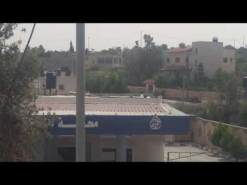 Israeli forces shooting tear gas at Peaceful Americans at the village of Nabi Saleh