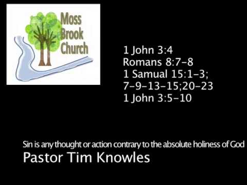 Sin is any thought or action contrary to the absolute holiness of God