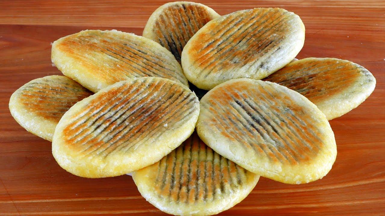 油酥烧饼这样做,简单无难度,一按一卷,不用烤箱也酥脆掉渣!【海娟美食】