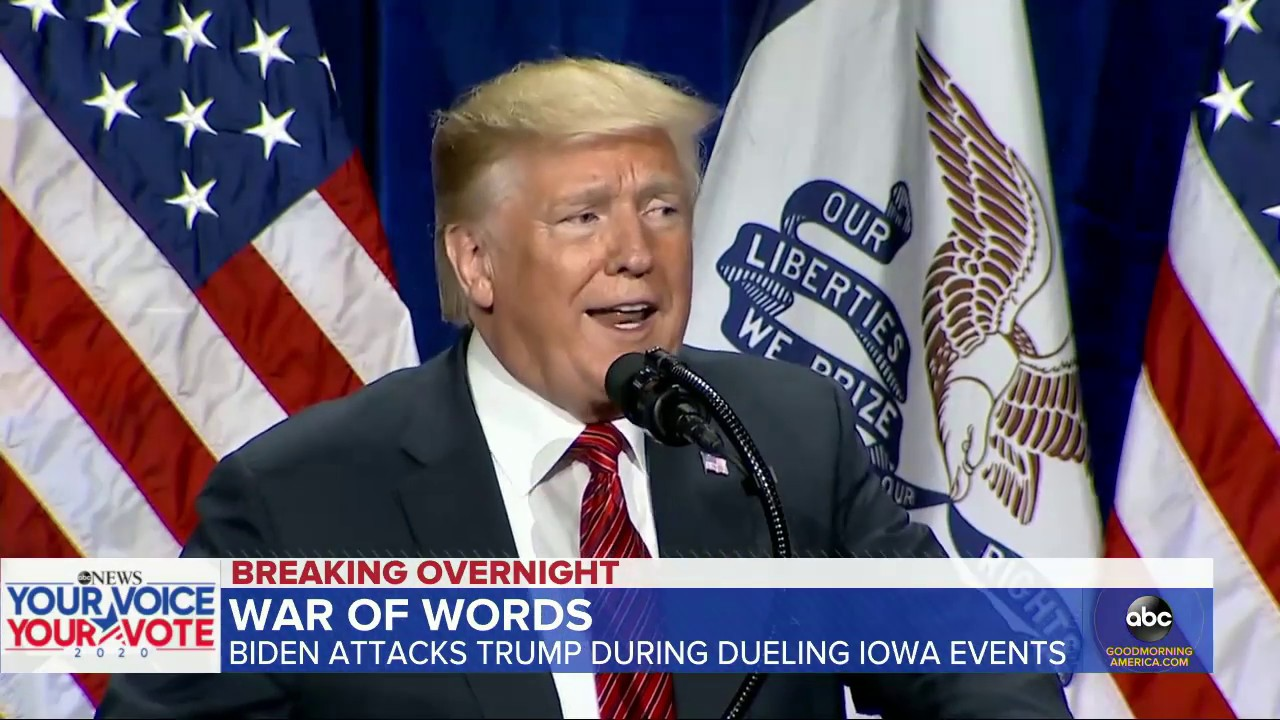 ABC News:Trump, Biden hold dueling campaign stops