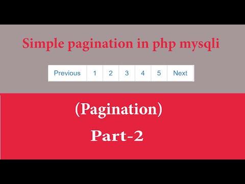 Simple Pagination In Php Mysqli Part-2