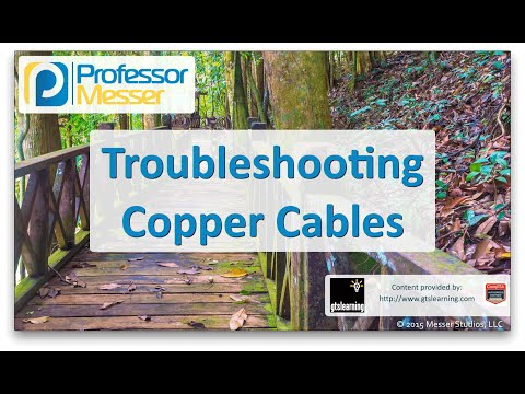 Descargar Video Troubleshooting Copper Cables - CompTIA Network+ N10-006 - 4.4