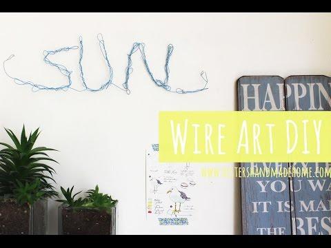 Wire art DIY