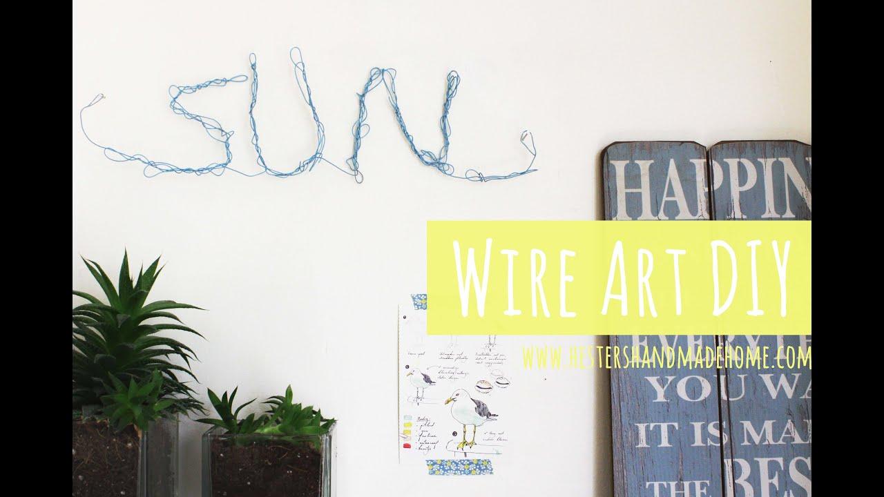 Wire art DIY - YouTube