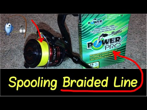 🎣How To Spool Braided Line Review On A Spinning Shimano Ci4+ Reel With PowerPro Or Berkley Trilene