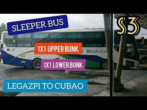 Sleeper Bus S3 Legazpi to Cubao Trip.
