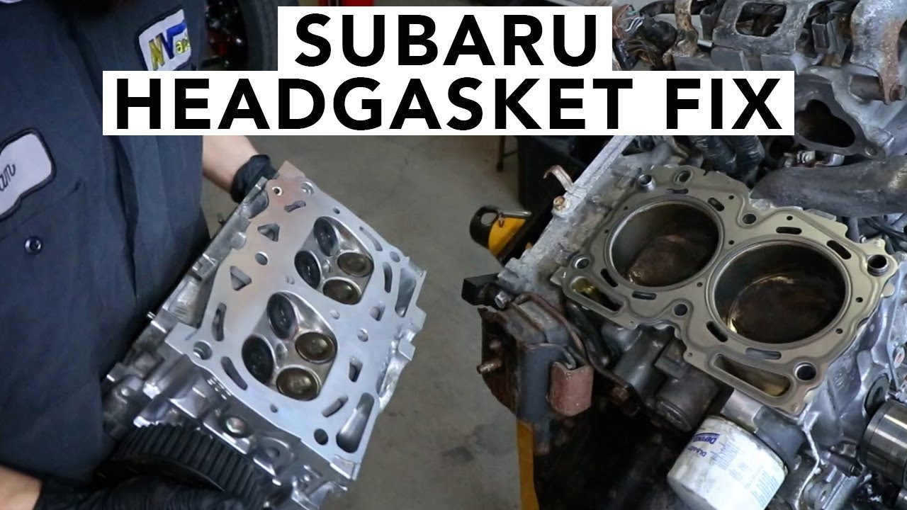 how to replace subaru leaking headgaskets sohc ej25 [ 1280 x 720 Pixel ]