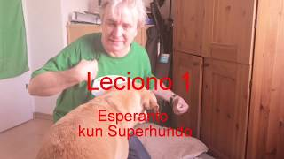 Lernu Esperanton kun Superhundo – Leciono 1