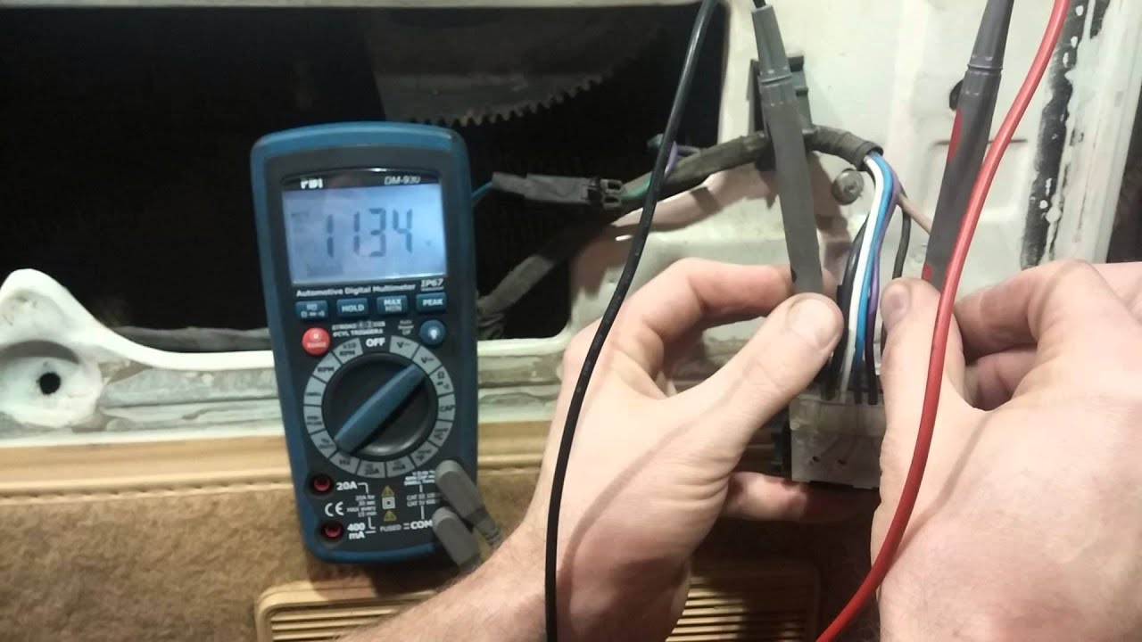 hight resolution of testing a power window circuit