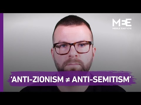 """""""Anti-Zionism is not the same as Anti-Semitism"""""""