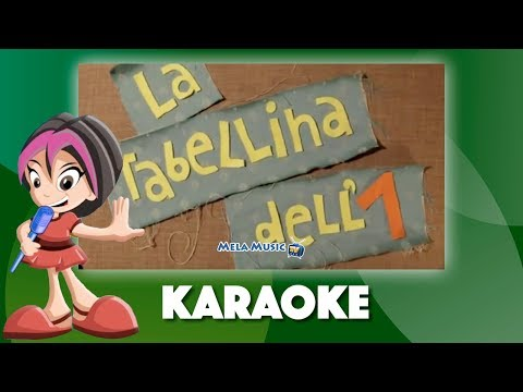 Il cha cha cha della tabellina dell'1 - Versione karaoke