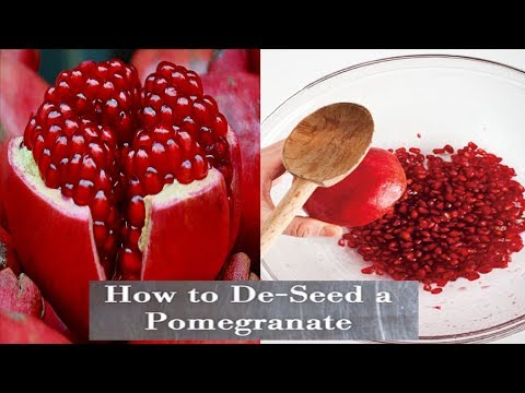 How to Deseed a Pomegranate Quickly – in Just 1 Minute for Juice and Eating . No Kidding!