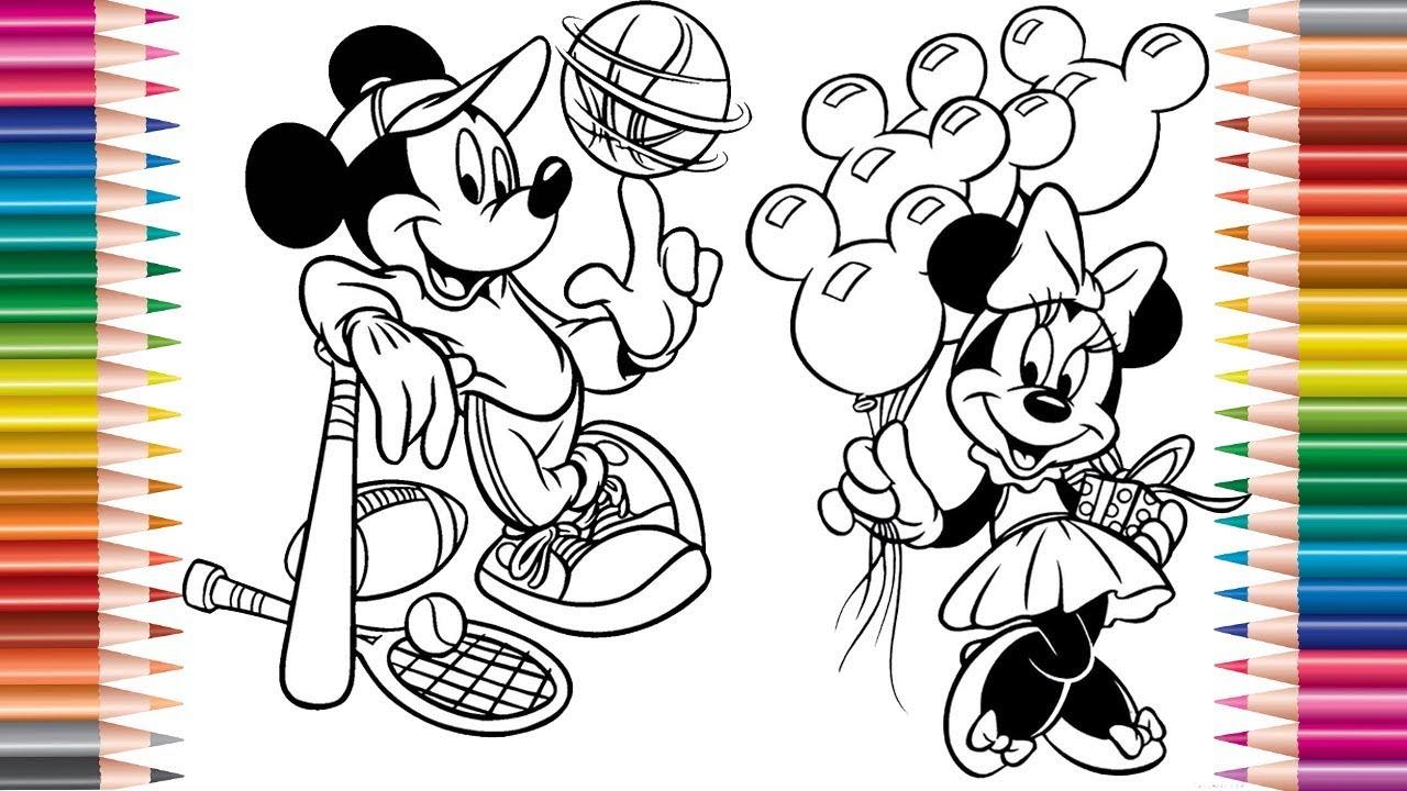 Desenho Do Mickey E Da Minnie, Desenhos Para Colorir