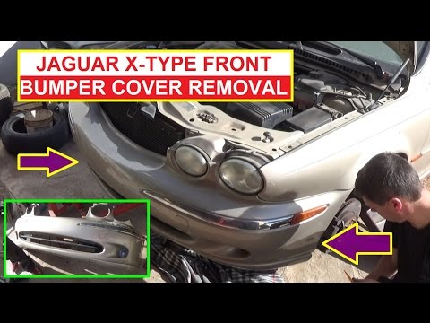 Jaguar X-TYPE Front Bumper Cover Removal and Replacement. How to remove the front bumper