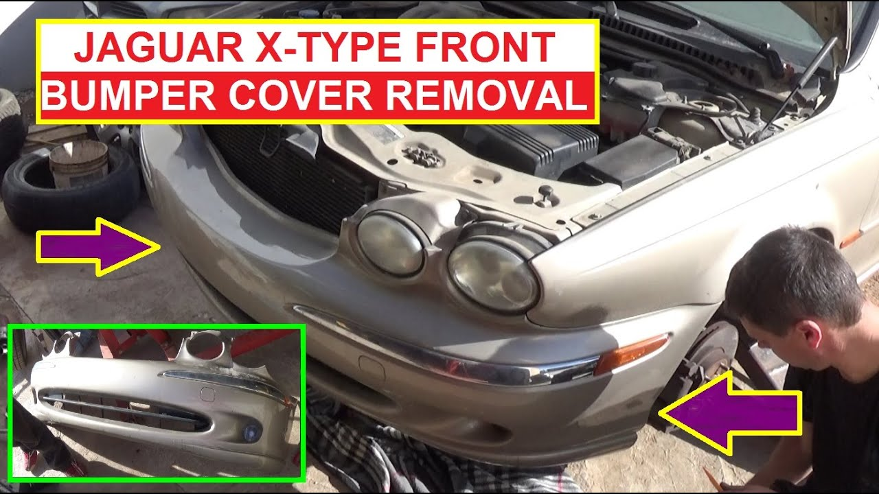 jaguar x type front bumper cover removal and replacement how to remove the front bumper [ 1280 x 720 Pixel ]