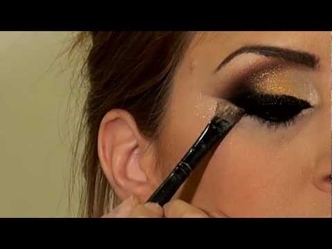 מריה-מסלרסקי---איפור-ערב-arabic-black-&-gold-khaleeje-makeup-2013
