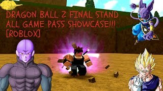 DRAGON BALL Z FINAL STAND ALL GAME PASS SHOWCASE [ROBLOX]