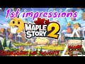 Maple Story 2 F2P // 1st Impressions  //  Breakdown and Thoughts // Cute Art Style Big Gameplay 🔥🤔