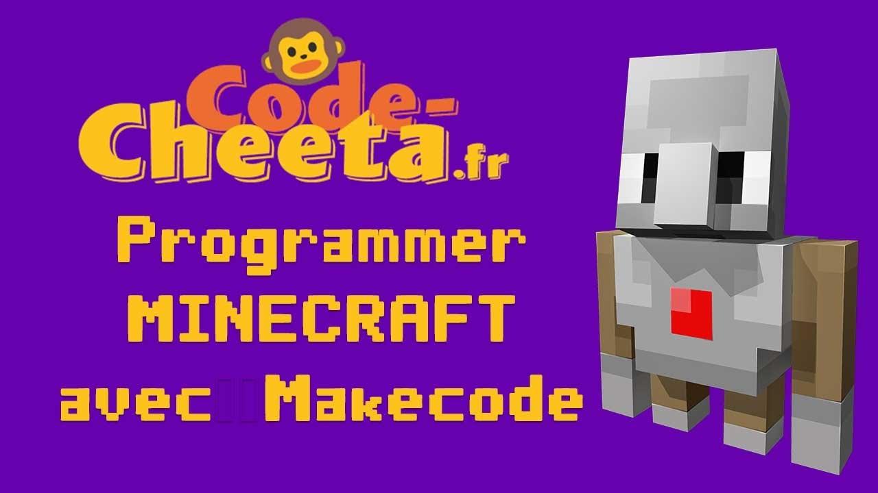 Minecraft 1  hacker le jeu avec Makecode, facile    YouTube