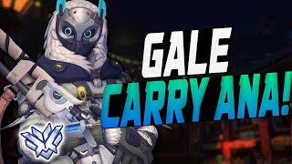 GALE CARRY ANA! 35 ELIMS! [ OVERWATCH SEASON 10 TOP 500 ]