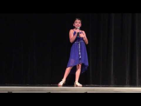 Macy singing Fight Song at 2016 Manatee Elementary School Talent Show