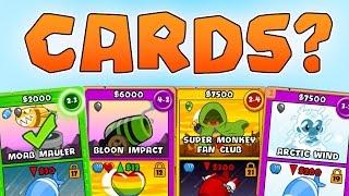 BTD Battles Card Battles! Learning Bloons TD Battles Strategy!