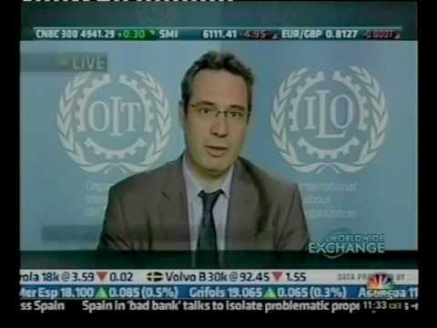 CNBC Europe interviews ILO's Raymond Torres on the World of Work Report 2012