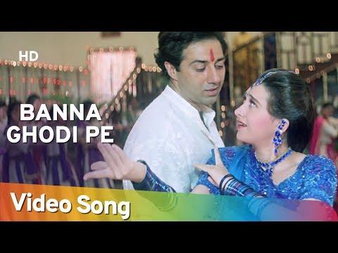Banna Ghodi Pe - Ajay Songs - Sunny Deol - Karishma Kapoor -Farida Jalal - Laxmikant Berde