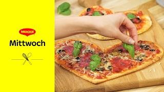 Herzförmige Pizza (Rezept)  MAGGI Mittwoch
