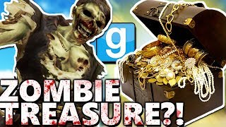 ZOMBIE PIRATE TREASURE?! | Gmod Sandbox Fun (HUNT FOR HIDDEN TREASURE)