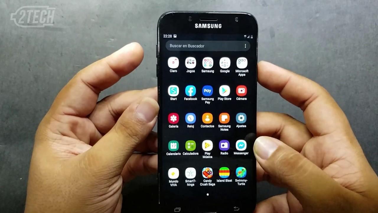 How to screenshot Samsung J7 PRO - J730 - YouTube