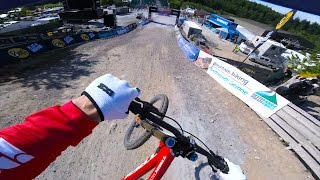 Gee Atherton GoPro from practice in Fort William