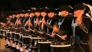 Красивое выступление на барабанах