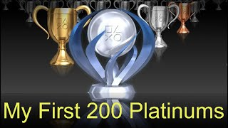 First 200 Platinums Trophy List/Stats Review